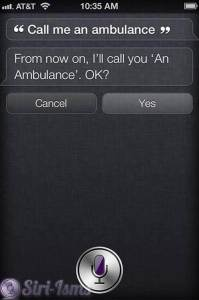Call Me An Ambulance - Siri Says