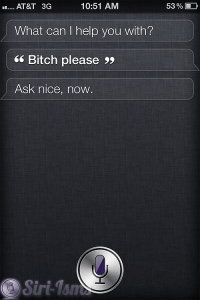 Bitch Please! ~ Funny Siri Sayings