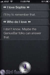 Who Do You Love?Siri Says Go To The Apple Store