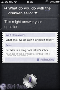 What Do You Do With The Drunken Sailor?~ Siri Says
