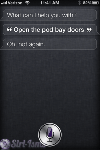 Funny Siri: Open The Pod Bay Doors Hal