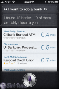 I Want To Rob A Bank - Funny Siri Sayings