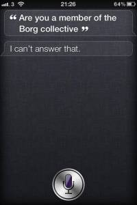 Are You A Member Of The Borg Collective? - Siri Says