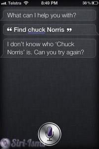 Find Chuck Norris - Funny Siri Sayings