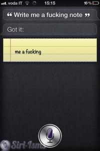 Write Me A Fucking Note - Funny Siri Sayings