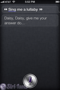 Sing Me A Lullaby - Funny Siri Sayings