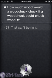 How Much Wood Would A Wood Chuck Chuck? - Funny Siri Sayings