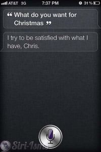 What Do You Want For Christmas? - Funny Siri Sayings