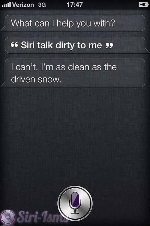 Siri talk dirty to me funny siri sayings