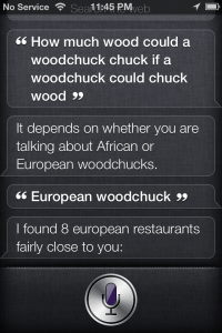 How Much Wood Would A Wood Chuck Chuck... - Siri Says