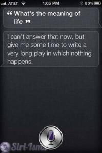 What's The Meaning Of Life According To Siri