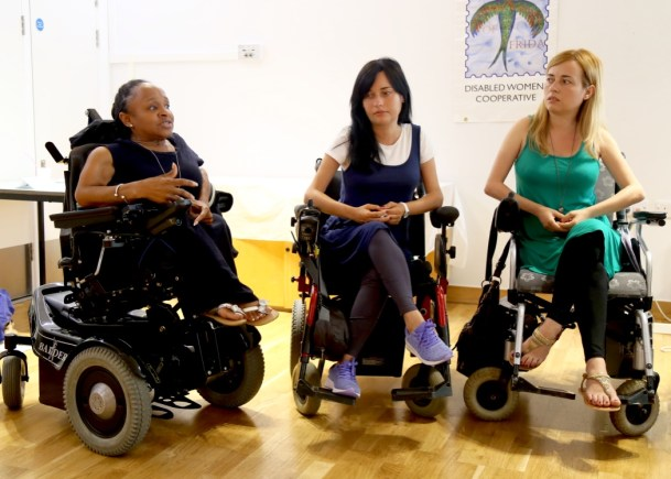 Michelle Daley with Jagoda and Jusmina Risteska 3 wheelchair users