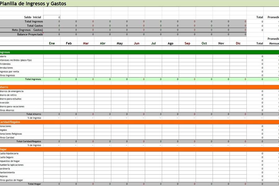 12 Plantillas gratis de Gastos en Excel SistemaContable - formatos de excel gratis