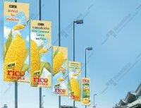 Pole Banner - Sistem Dizayn Reklam : Raket pano, raket ...