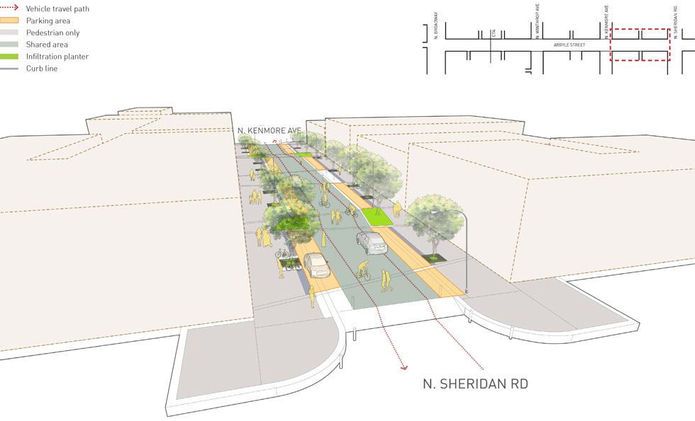 Argyle Shared Street Streetscape