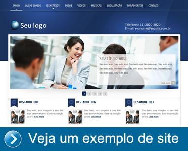 Veja um exemplo de site