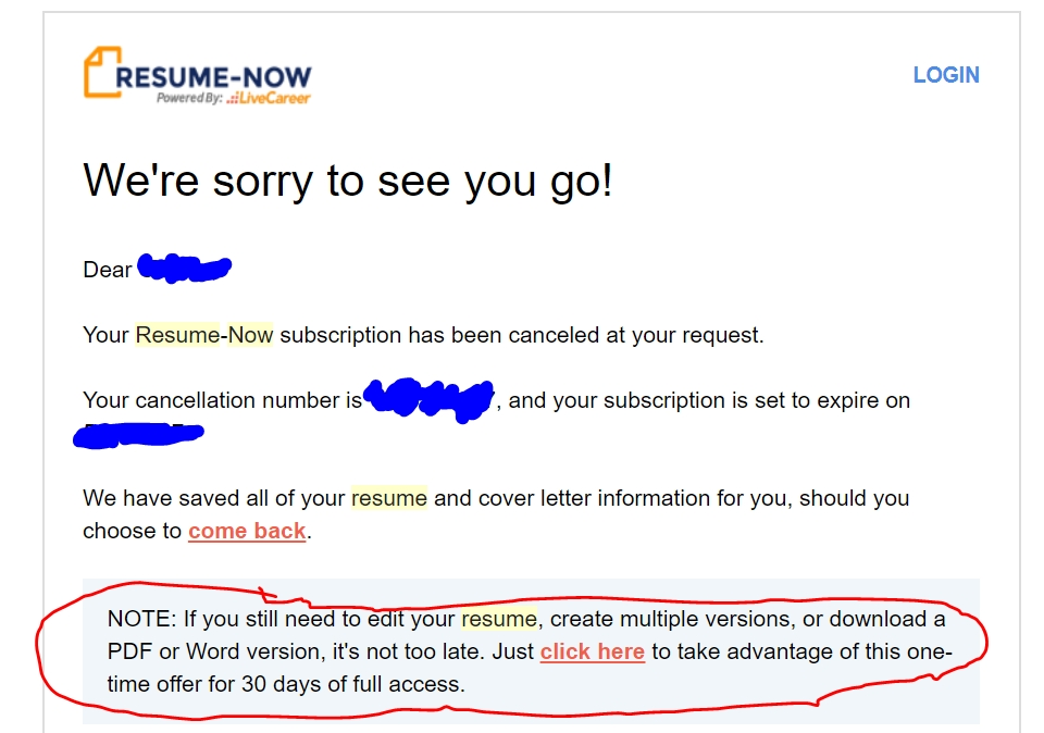 resume now complaints