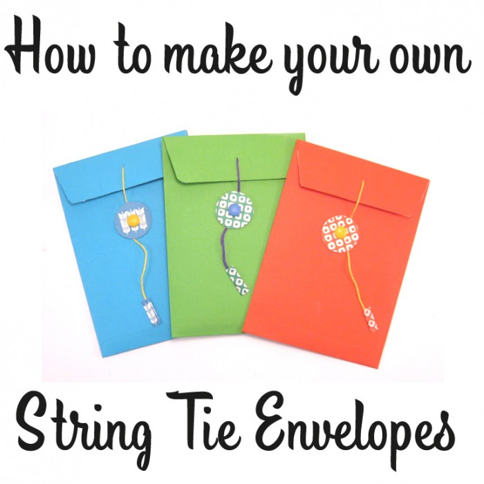 Craft Tutorial How to make a string tie envelope - six0six design
