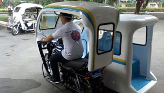 Rickshaw gets upgrade with hemp sidecar