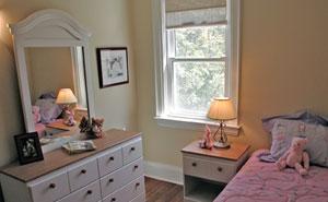 kid's bedroom after staging