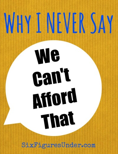 Why I don't say