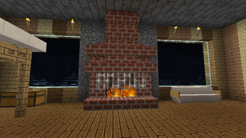 1000 Images About Minecraft Fireplaces On Pinterest