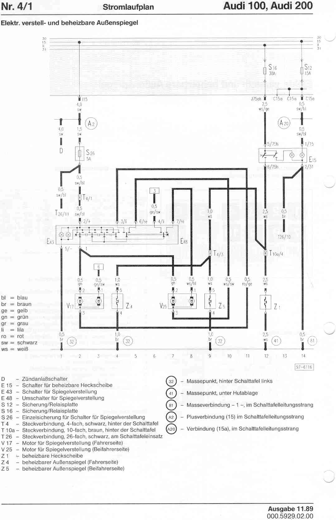 audi electric seat wiring diagram