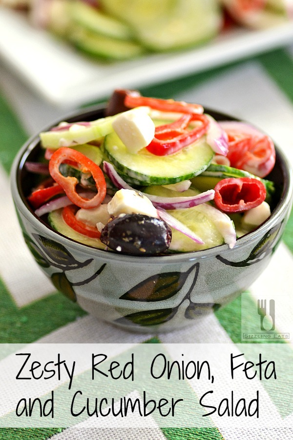 Zesty Red Onion, Feta and Cucumber Salad