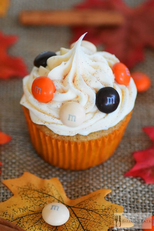 Harvest Surprise Cupcakes Made with Coffee