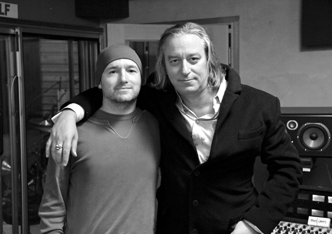 Saint John and Peter Buck (R.E.M.)
