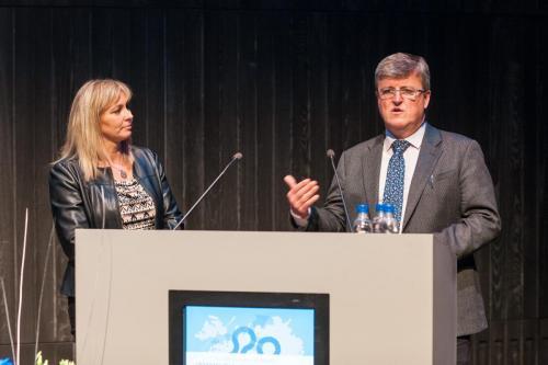 Paul Eden og Stella Björg Kristinsdóttir markaðsstjóri Marel.