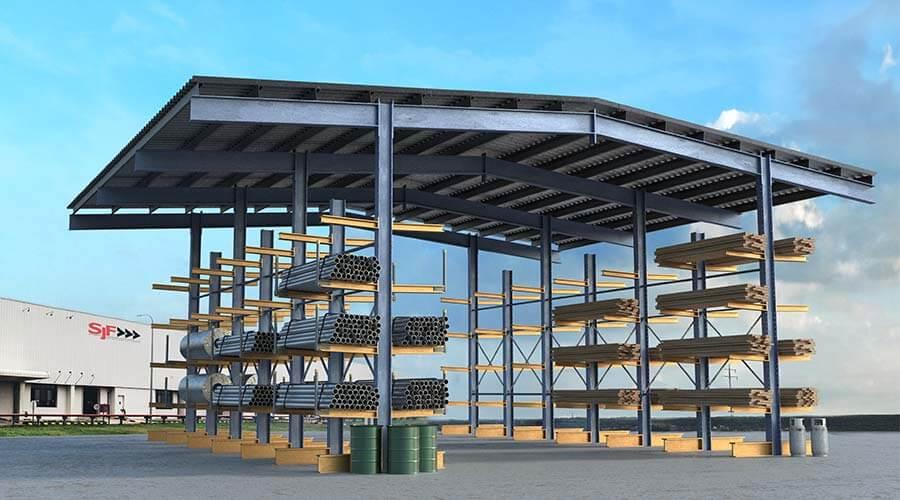 Rack Supported Warehouses Shed Racks Sjfcom