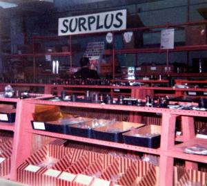 Edmund Scientific surplus room