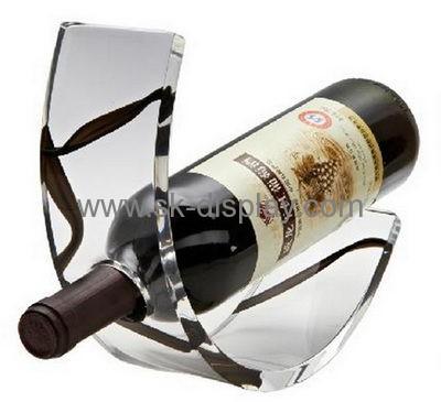 Wholesale Acrylic Wine Bottle Holder Wine Stand Wine