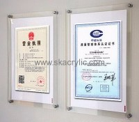 Factory wholesale wall mount acrylic sign holder acrylic ...