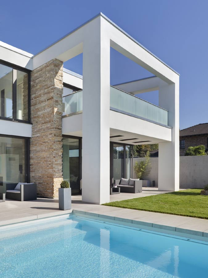 Moderne Haus Architektur. Maison-Contemporaine Architecture