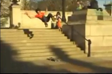 Front Flip sobre a escada... Willian Spenser