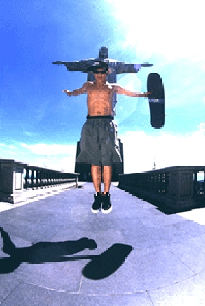 Christian Hosoi , Christ Air.... Homenagem ao Cristo Redentor.
