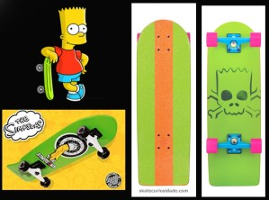 "Bart o ""causador"" skaters... Santa Cruz skateboards"