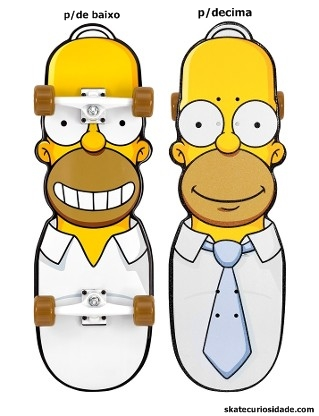O desajeitado  Homer Simpson vira deck... art de Jim Fhillips