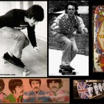 Paul e John &  The  Beatles & skate