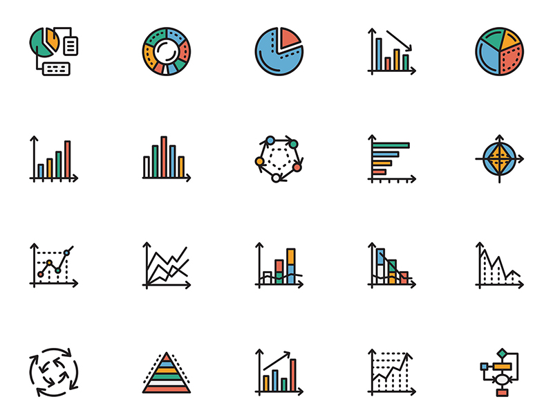 Chart Icons Sketch freebie - Download free resource for Sketch