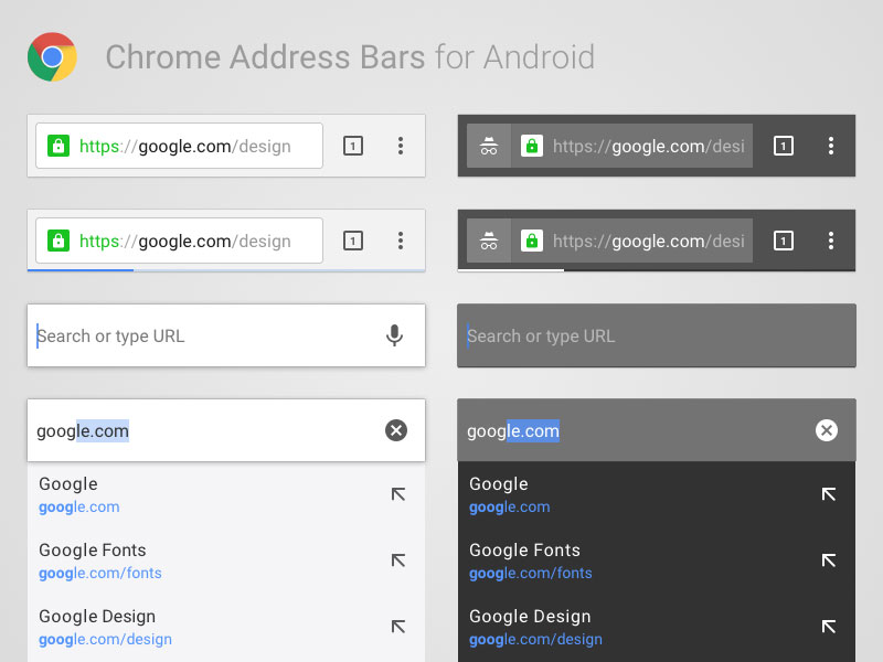 Android Chrome Address Bars Sketch freebie - Download free resource