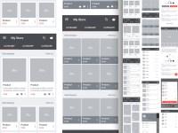 Carbon Material Wireframe Kit Sketch freebie - Download ...