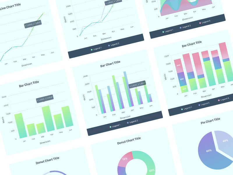 Charts UI Kit Sketch freebie - Download free resource for Sketch