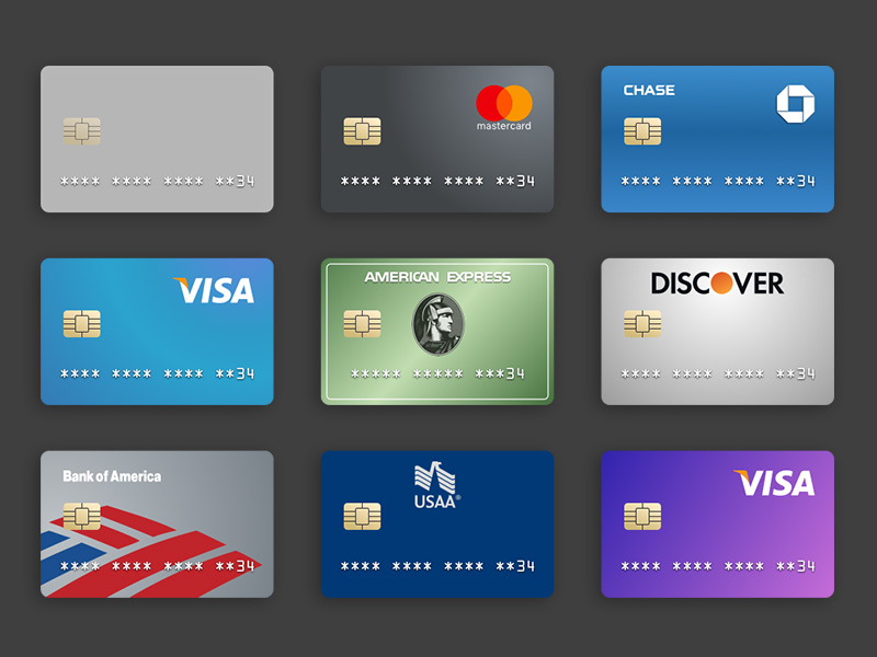 Credit Card Templates Sketch freebie - Download free resource for - templates