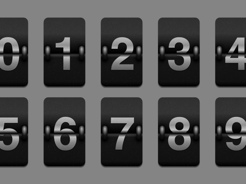 Flip Card Number Template Sketch freebie - Download free resource - number template
