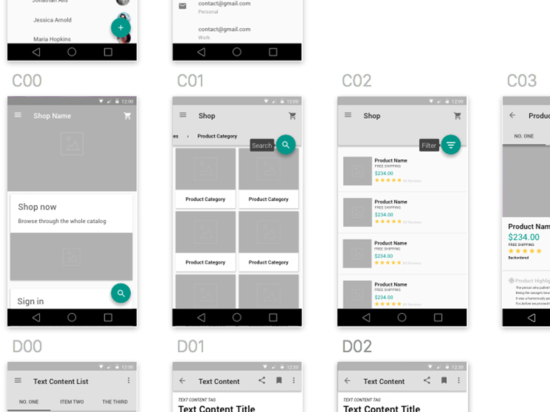 Material Design Wireframe Kit Sketch freebie - Download free