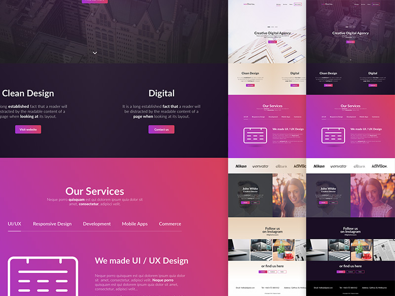 NeoDigital Landing Template Sketch freebie - Download free resource - Free App Template