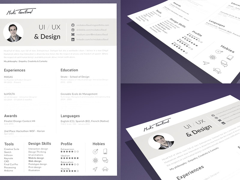 Resume CV Template Sketch freebie - Download free resource for